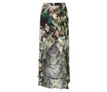Vokuhila Rock aus Chiffon mit floralem Muster