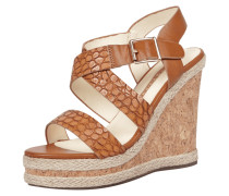 Wedges mit Riemen in Kroko-Optik