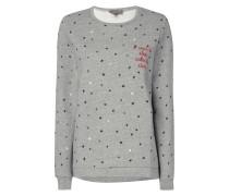 Sweatshirt mit Sternen-Print im Vintage Look