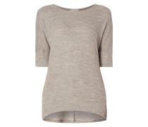 Oversized Pullover mit eingestricktem Muster