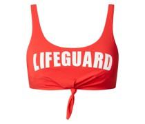 Bikini-Oberteil in Bustier-Form mit Statement Modell 'Nouo Lifeguard'