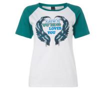 T-Shirt mit eingestickter Message