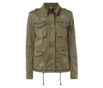 Fieldjacket mit Stickereien