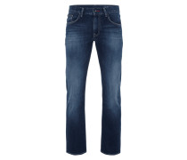 Straight Fit Jeans mit Stone Waschung