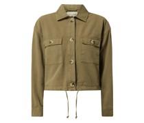 Cropped Jacke aus Baumwolle