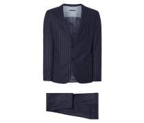 Anzug mit 2-Knopf-Sakko und Nadelstreifen