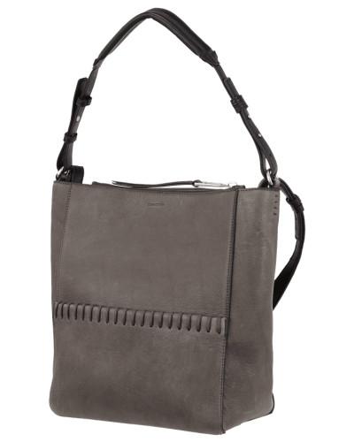Hobo Bag aus Leder mit Ziernähten