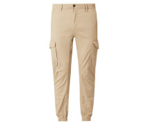 Tapered Fit Cargohose mit Stretch-Anteil Modell 'Paul'