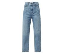 Cropped High Waist Jeans aus Baumwolle Modell 'Rachel'
