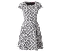 Kleid mit stilisiertem Vogelmuster