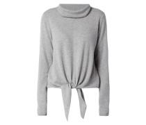 Pullover mit Saum zum Binden