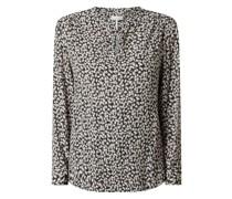 Blusenshirt aus Viskose mit floralem Muster Modell 'Taube'