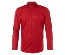 Slim Fit Business-Hemd mit Kontrastdetails