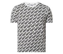 Regular Fit T-Shirt mit Logo-Muster