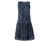 Kleid mit Allover-Muster und Spitzenbesatz