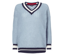 Pullover mit kontrastfarbenen Abschlüssen
