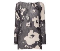 Longpullover mit floralem Allover-Print