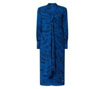Kleid aus Krepp mit künstlerischem Muster Modell 'Callie'