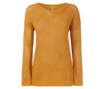 Pullover aus Lochstrick mit Effekt-Garn