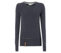 Pullover mit schimmernden Zierstreifen