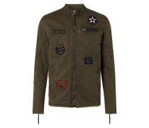 Jacke mit Patches Modell 'Be Next'