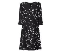 Kleid aus Seide mit abstraktem Muster