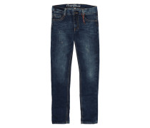 Skinny Fit 5-Pocket-Jeans im Destroyed Look