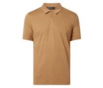Poloshirt aus Leinen-Baumwoll-Mix