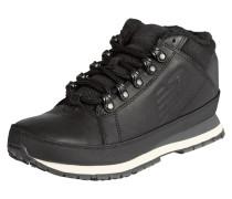 Sneaker aus Leder mit Textilbesatz