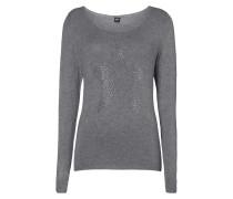 Pullover mit Stern-Motiv aus Ziersteinen