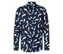 Fitted Freizeithemd mit Allover-Muster