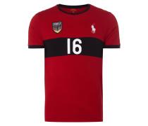 T-Shirt mit Deutschland-Aufnäher im Trikot-Stil