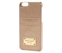 iPhone Case mit Besatz aus echtem Leder