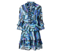 Kleid aus Chiffon mit Rüschen