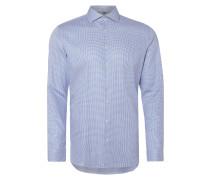Slim Fit Business-Hemd mit Hahnentritt