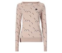 Sweatshirt mit Allover-Muster