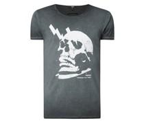 T-Shirt aus Baumwolle Modell 'Electrified Skull Wren'