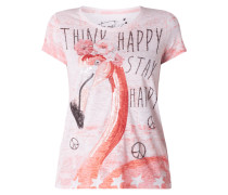 T-Shirt mit Motiv- und Message-Print