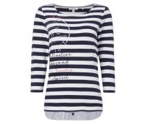 Shirt im 2-in-1-Look mit Kontrastbesatz am Saum