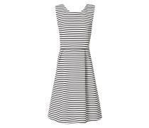 Kleid mit Rippenstruktur und Streifenmuster