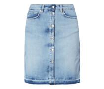 5-Pocket-Jeansrock mit offenem Saumabschluss
