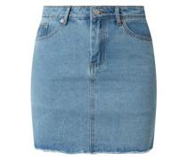 Jeansrock mit ausgefranstem Saumabschluss