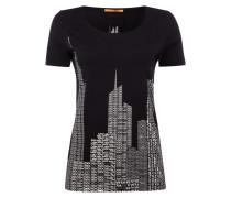 T-Shirt mit stilisiertem Skyline-Print