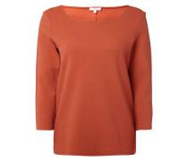 Pullover aus strukturiertem Sweat