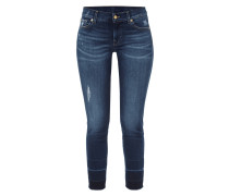 Cropped Stone Washed 5-Pocket-Jeans