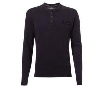 Serafino-Shirt aus Slub Jersey