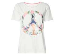 T-Shirt mit Motiv-Stickerei Modell 'Cirsten'