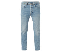 Double Stone Washed Slim Fit Jeans