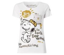 T-Shirt mit Peanuts©-Print und Pailletten