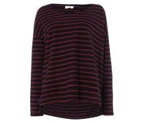 Oversized Sweatshirt mit Streifenmuster